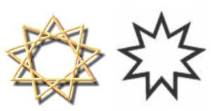 estrela nove pontas